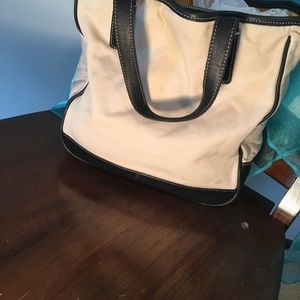 Coach leather. & canvas  tote bag